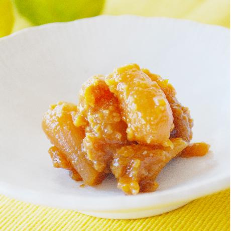 香り豊かな柚子味噌で漬けた味噌漬け砂丘らっきょう